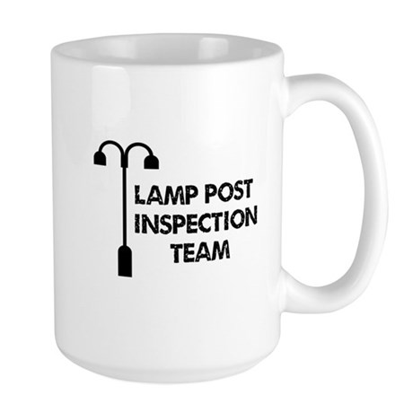 Lamp Post Inspection Team Large Mug
