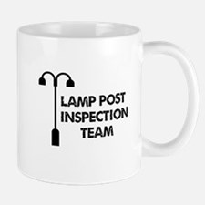 Lamp Post Inspection Team Small Mugs