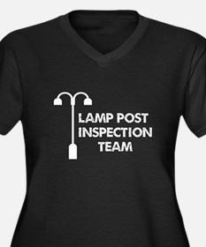 Lamp Post Inspection Team Women's Plus Size V-Neck