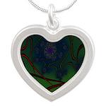 Japan Fractal Silver Heart Necklace