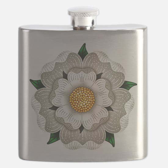 White Rose Of York Flask