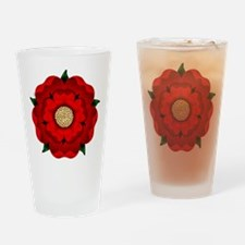 Red Rose Of Lancaster Drinking Glass