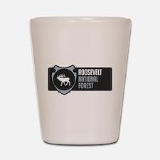 Roosevelt Arrowhead Badge Shot Glass