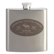 Roosevelt Belt Buckle Badge Flask