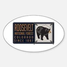 Roosevelt Black Bear Badge Decal