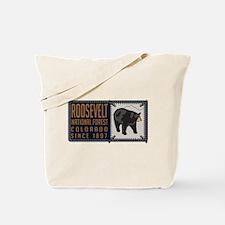 Roosevelt Black Bear Badge Tote Bag