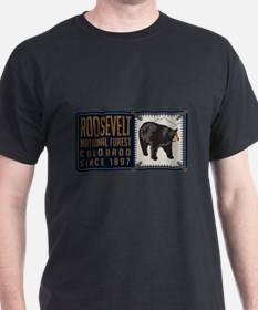 Roosevelt Black Bear Badge T-Shirt