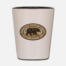 Roosevelt Brown Bear Badge Shot Glass
