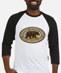 Roosevelt Brown Bear Badge Baseball Jersey