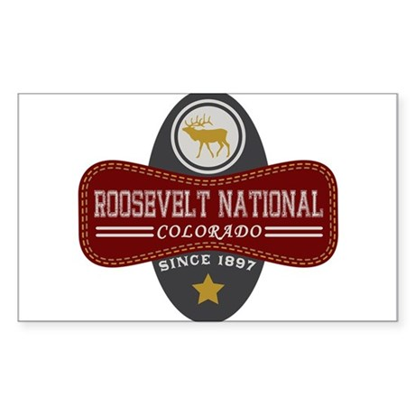 Roosevelt Natural Marquis Sticker (Rectangle)