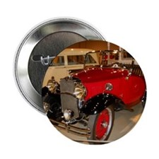 """Classic Tiny Red Hot Car 2.25"""" Button"""