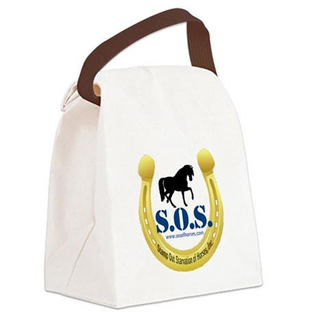 SOS Logo Canvas Lunch Bag
