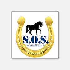 "SOS Logo Square Sticker 3"" x 3"""