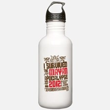I Survived the Mayan Apocalypse 2012 Water Bottle