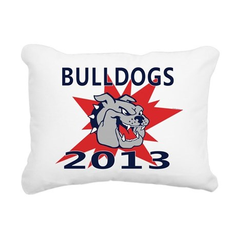 Bulldogs 2013 Rectangular Canvas Pillow