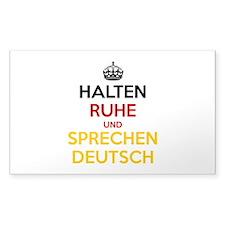 Halten Ruhe und Sprechen Deutsch Decal