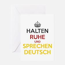 Halten Ruhe und Sprechen Deutsch Greeting Card