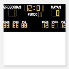 Doomsday calendar - Gregorian 1 Mayan 0 Square Car