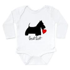 Cute Scottie dog Long Sleeve Infant Bodysuit