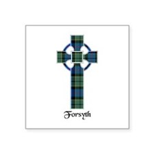 "Cross - Forsyth Square Sticker 3"" x 3"""