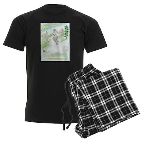 A Kind Of Snowman Day. Men's Dark Pajamas