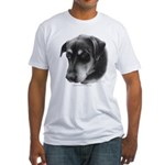 Rottweiler Lab Mix Fitted T-Shirt
