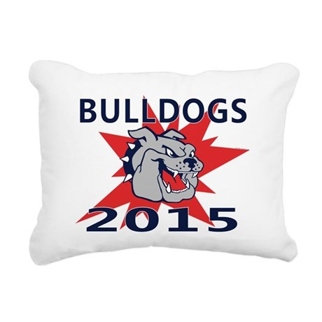 Bulldogs 2014 Rectangular Canvas Pillow