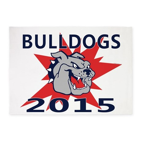 Bulldogs 2014 5'x7'Area Rug
