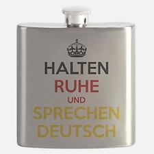 Halten Ruhe und Sprechen Deutsch Flask