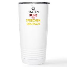 Halten Ruhe und Sprechen Deutsch Travel Mug