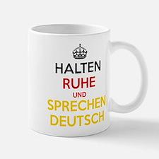 Halten Ruhe und Sprechen Deutsch Small Mugs