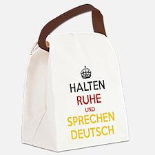 Halten Ruhe und Sprechen Deutsch Canvas Lunch Bag
