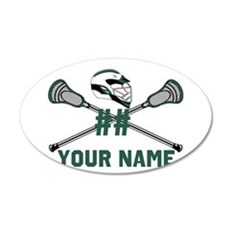 Personalized Crossed Lacrosse Sticks with Helmet G