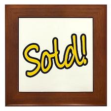 Sold! Framed Tile