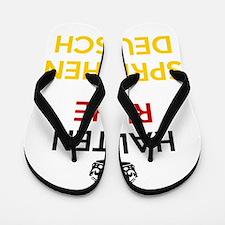 Halten Ruhe und Sprechen Deutsch Flip Flops