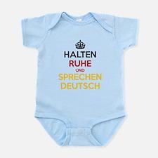 Halten Ruhe und Sprechen Deutsch Onesie