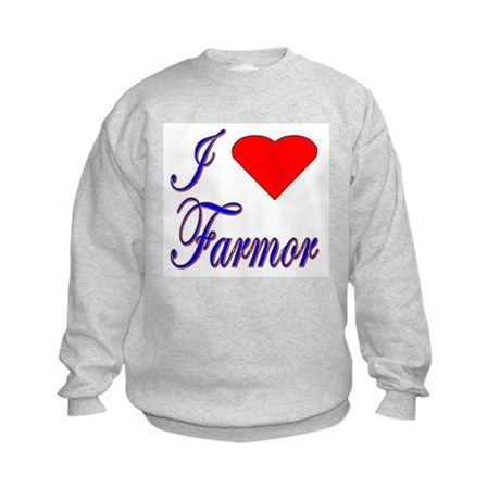 I Love Farmor Kids Sweatshirt