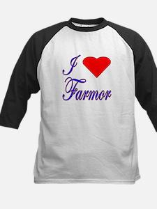 Black-White-I Love Farmor Tee