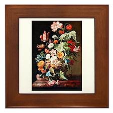 Rachel Ruysh Flower Bouquet Framed Tile