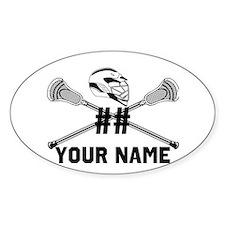 Personalized Crossed Lacrosse Sticks with Helmet W