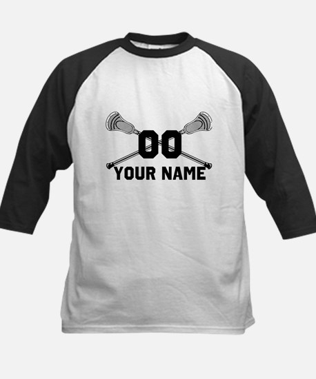 Personalized Crossed Lacrosse Sticks White Tee