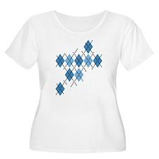 Blue Evil Argyle T-Shirt