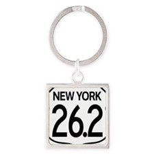 New York Marathon Square Keychain