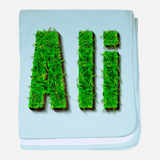 Ali Grass baby blanket