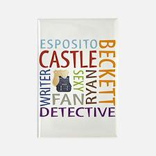 Castle Fan Rectangle Magnet