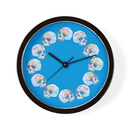 sugar-skull-allover_cl.png Wall Clock