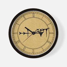 Inanna Cuneiform Wall Clock