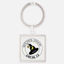 2-witchesunion.png Square Keychain