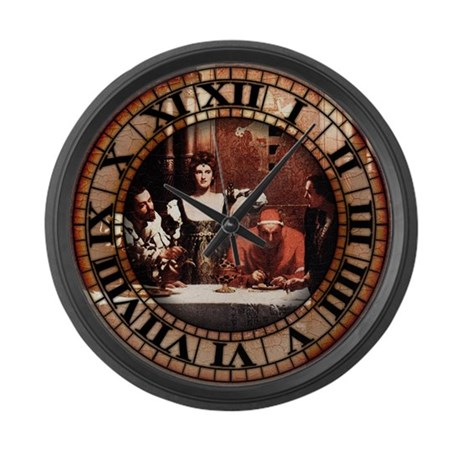 borgia family painting large wall clock by opheliasart002