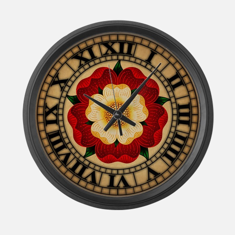 Tudor Rose Large Wall Clock